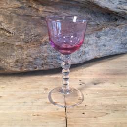 Ποτήρι Γάμου Κρασιού Κρυστάλλινο Μουράνο Ροζ Λιλά