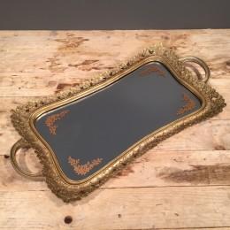 Δίσκος Γάμου Vintage Χρυσός Καθρέφτη 50*26εκ