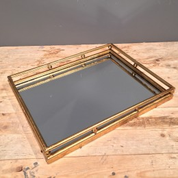 Δίσκος Γάμου Ορθογώνιος Μεταλλικός Χρυσός Καθρέφτη 47,5*36,5εκ
