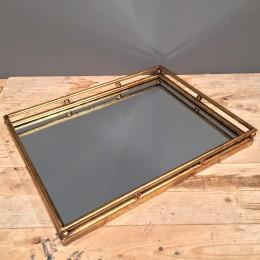 Δίσκος Γάμου Ορθογώνιος Μεταλλικός Χρυσός Καθρέφτη 41,5*32,5εκ