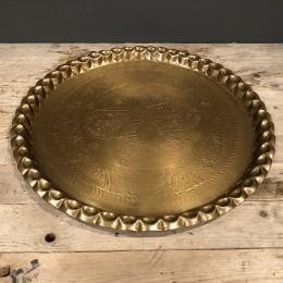Δίσκος Γάμου Μεταλλικός Στρογγυλός Χρυσός Vintage 48εκ