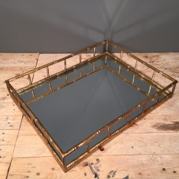 Δίσκος Γάμου Ορθογώνιος Μεταλλικός Χρυσός Καθρέφτη 48*37εκ