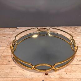 Δίσκος Γάμου Μεταλλικός Στρογγυλός Χρυσός Καθρέφτη 40*6εκ