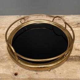 Δίσκος Γάμου Καθρέφτη Μαύρο Χρυσός Μεταλλικός 37*9εκ