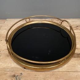 Δίσκος Γάμου Καθρέφτη Μαύρο Χρυσός Μεταλλικός 45*9εκ