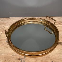 Δίσκος Γάμου Καθρέφτη Χρυσός Μεταλλικός Στρογγυλός 46*11εκ