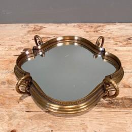 Δίσκος Γάμου Καθρέφτη Μεταλλικός Μπρούτζινος 36*31εκ
