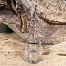 Καράφα Γάμου Κρασιού Κρυστάλλινη Ασημί Λεπτομέρεια Λουλουδάκια
