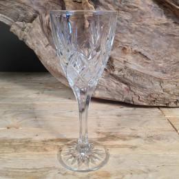 Κρυστάλλινο Ποτήρι Κρασιού Χαραγμένα Λουλούδια