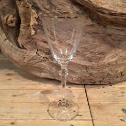 Ποτήρι Γάμου Κρασιού Χρυσό Χείλος Σχέδιο Λουλουδάκια