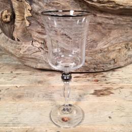 Ποτήρι Γάμου Κρασιού Χείλος Ασημί Λεπτομέρεια Σχέδιο