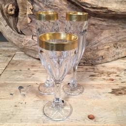 Ποτήρια Γάμου Σετ Κρασιού & Σαμπάνιας Χρυσή Λεπτομέρεια Ανάγλυφη