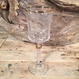 Ποτήρι Γάμου Κρασιού Χρυσή Λεπτομέρεια Λευκές Γραμμές