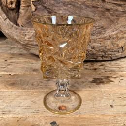 Ποτήρι Γάμου Χειροποίητο Κρασιού Γυάλινο Χρυσό Λεπτομέρεια Χρυσό