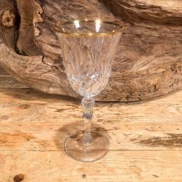 Ποτήρι Γάμου Κρυστάλλινο Χρυσή Γραμμή 20εκ