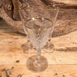 Ποτήρια Γάμου Σετ Κρυστάλλινα Σαμπάνιας Κρασιού Χρυσή Γραμμή