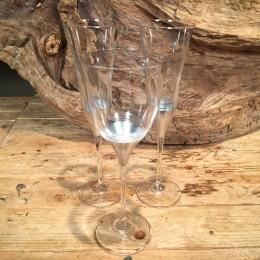 Σετ Ποτήρια Γάμου Κρασιού & Σαμπάνιας Κρυστάλλινο Ασημί Σχέδιο 23εκ & 25εκ