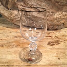 Ποτήρι Γάμου Κρασιού Κρυστάλλινο Ασημί Ρίγα 16εκ