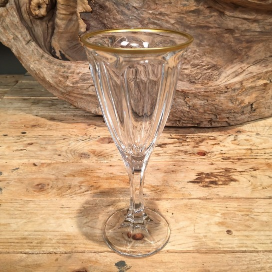Ποτήρι Γάμου Κρασιού Κρυστάλλινο Χρυσή Ρίγα 19εκ