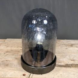 Φωτιστικό Διακοσμητικό Επιτραπέζιο Μεταλλική Βάση Κρακελέ Γυάλα 34εκ