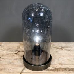Φωτιστικό Διακοσμητικό Επιτραπέζιο Μεταλλική Βάση Κρακελέ Γυάλα 44εκ