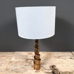 Φωτιστικό Διακοσμητικό Επιτραπέζιο Μεταλλικό Χρυσό Λευκό Καπέλο