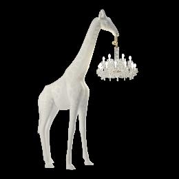 Φωτιστικό Δαπέδου Καμηλοπάρδαλη Λευκό Χρώμα Εξωτερικού Χώρου 265*400εκ