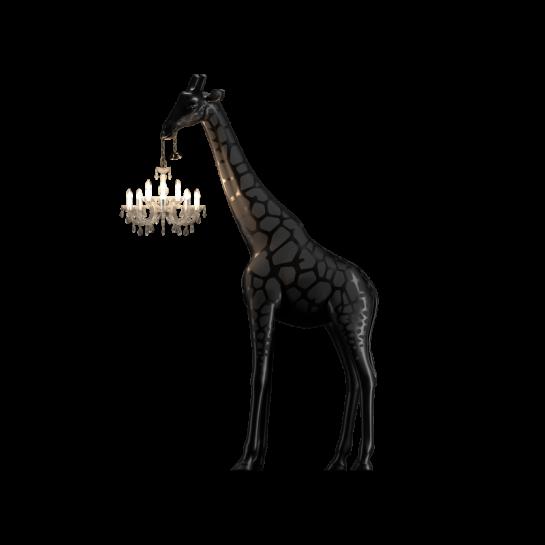 Φωτιστικό Δαπέδου Καμηλοπάρδαλη Μαύρο Χρώμα 180*270εκ