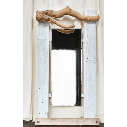 Χειροποίητος Ξύλινος Καθρέφτης Θαλασσόξυλα 210*110