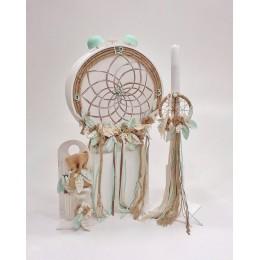 Σετ Βάπτισης Αγόρι Dreamcatcher Vintage Clock