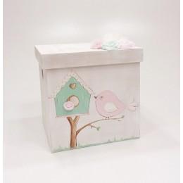 Κουτί Βάπτισης Κορίτσι Bird House