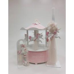 Σετ Βάπτισης Κορίτσι Unicorn Carousel