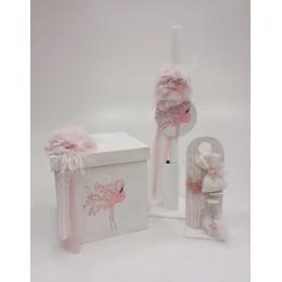 Σετ Βάπτισης Κορίτσι Flamingo