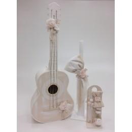 Σετ Βάπτισης Κορίτσι Flower Guitar