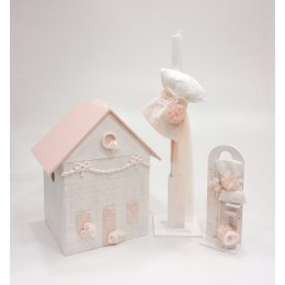Σετ Βάπτισης Κορίτσι Romantic Dollhouse