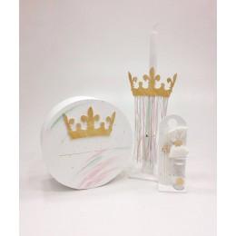 Σετ Βάπτισης Κορίτσι Gold Crown