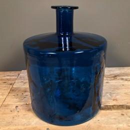 Βάζο Διακοσμητικό Γυάλινη Μπουκάλα Μπλε 47εκ