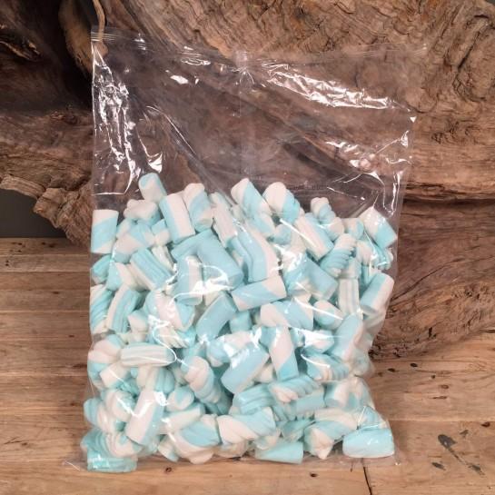 Συσκευασία Ένα Κιλό Μαρσμελοου Γαλάζιο Λευκό