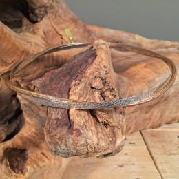 Στέφανα Γάμου Ασημένια Σφυρήλατη & Ξύλινη Rustic Βέργα