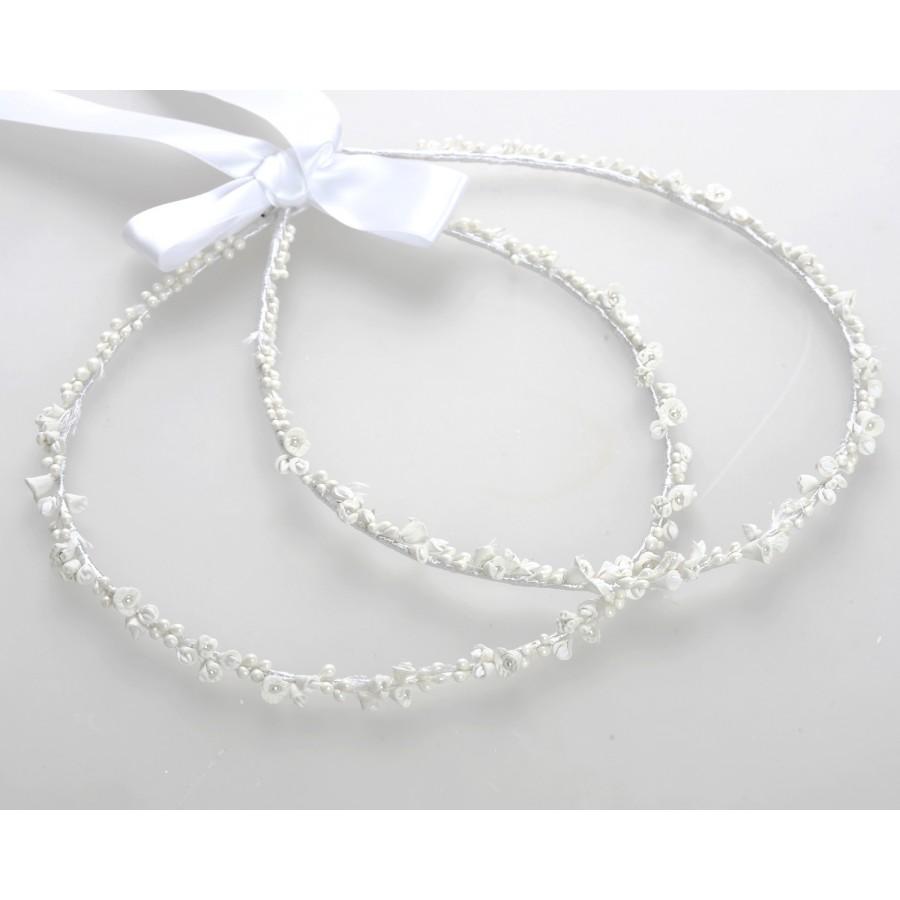 fa225243f9f7 Στέφανα Γάμου Χειροποίητα Πορσελάνινα Λευκά Λουλούδια